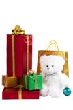 Presents and teddy Stock Photo