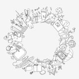 Presents and toys doodle, Kid's dreams Royalty Free Stock Photography