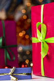 Presents and twinkles Stock Photo