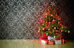 Presents under a Christmas Tree Royalty Free Stock Image