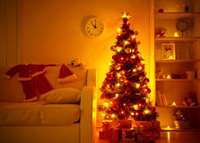 Presents under Christmas Tree Royalty Free Stock Photos