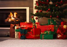 Presents under christmas tree Royalty Free Stock Photography