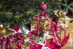 Presents under the Christmas Tree. Christmas Presents under the Christmas Tree Stock Photo
