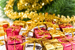 Presents under christmas-tree Royalty Free Stock Images