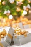 Presents under the tree Stock Image
