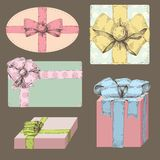 Presents in vintage style Stock Images
