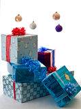 Presents waiting for Christmas morning Royalty Free Stock Photos