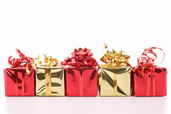 Presents on white background Royalty Free Stock Photos