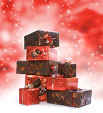 Presents on white2 Stock Images