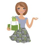 Presents woman Royalty Free Stock Photography