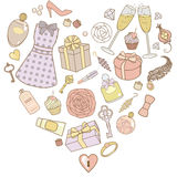 Presents-for-women-in-pastel-colors Royalty Free Stock Image
