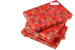 Presents wrapped up in red paper Royalty Free Stock Photography