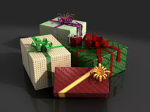 Presents in wrapping paper Stock Photography