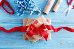 Presents with wrapping paper Royalty Free Stock Photo