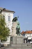 对诗人法国Preseren,卢布尔雅那3的纪念碑 免版税库存照片