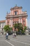 Preseren square, Ljubljana, capital of Slovenia. Royalty Free Stock Photo