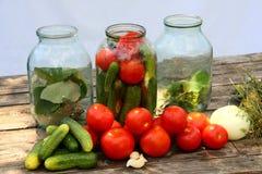 Preservação dos vegetais Fotos de Stock Royalty Free