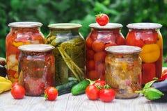 Preservação dos vegetais blanks Foco seletivo Alimento imagens de stock