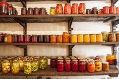 Preservación de la casa de verduras y de la fruta Fotos de archivo