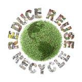 Preservación verde del globo fotos de archivo