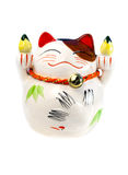 Preservation of capital,  money-box. Preservation of capital, coins and japanese money-box - cat Royalty Free Stock Images
