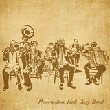 Preservation Hall Jazz Band Digital Hand drawn Illustration Royalty Free Stock Photography