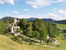 Preservation of Sklabina Castle Stock Photos