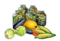 Preservation of vegetables. Royalty Free Stock Photos