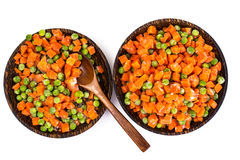 Preservation of vitamins in the frozen vegetables Stock Photos