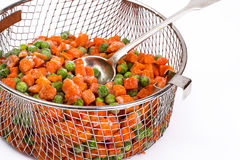Preservation of vitamins in the frozen vegetables Stock Photo