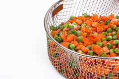 Preservation of vitamins in the frozen vegetables Stock Image