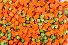 Preservation of vitamins in the frozen vegetables Stock Images