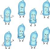 Preservativi messi Fotografie Stock Libere da Diritti