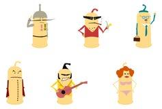 Preservativo como os caráteres ajustados. Fotografia de Stock Royalty Free
