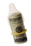Preservativo e soldi Fotografia Stock