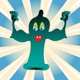 Preservativo feliz Imagen de archivo