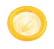 Preservativo giallo fotografia stock
