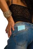 Preservativo no bolso Foto de Stock