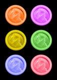Preservativos del color Foto de archivo