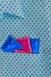 Preservativos en su bolsillo Imágenes de archivo libres de regalías