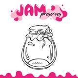 Preserve clipart, jam jar vector illustration clip art. Jam preserves clipart for logo, label, recipes. Preserve, jam. Jar vector illustration for card, package Stock Photos