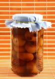 Preserve of onions cipolline borettane in oil Stock Photography
