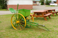 A preserved antique seeder in the yukon territories Stock Photo