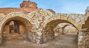 Explore Roman baths in Alexandria, Egypt stock image
