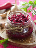 Preserved beet Royalty Free Stock Photos