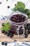 Preserved Black Currants Stock Photo