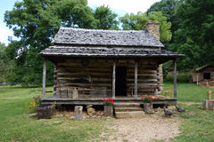 A preserved cabin from pioneer days royalty free stock images