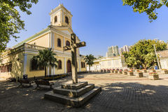 Macau preserved colonial house Stock Images