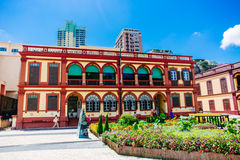 Preserved colonial house, Macau Royalty Free Stock Photos