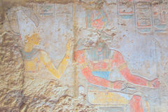 Preserved color hieroglyphics (Kalabsha, Egypt) Stock Photo